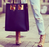 bag,black and gold,purse