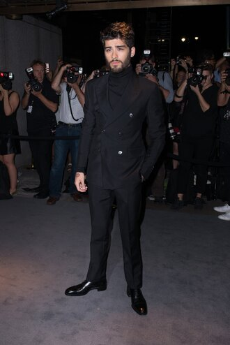 pants jacket blazer all black everything menswear mens jacket mens suit mens blazer ny fashion week 2016 zayn malik