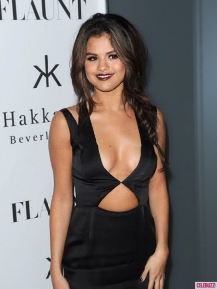 dress selena gomez little black dress black cutout dress bodycon