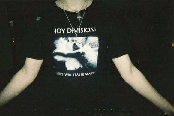 joy division black shirt t-shirt tumblr tears tshirt swag boys boy hipster bed