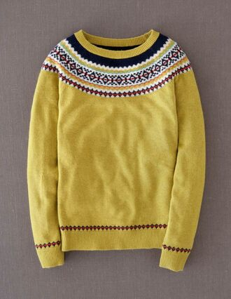 yellow sweater knitted sweater