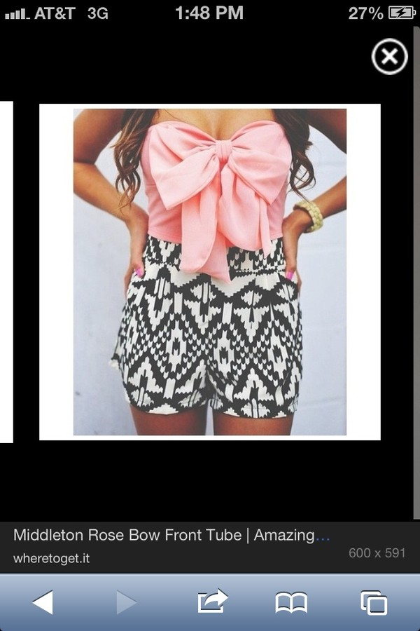 620e481d9ef9c3 CROP TOP CORAL PINK BOW CHIFFON STRAPLESS TUBE SWEETHEART SUMMER ...