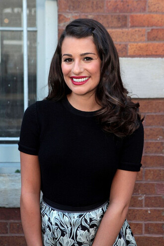 make-up vintage lea michele lipstick rachel berry glee