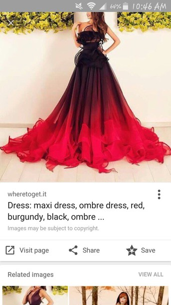 Dress Ombre Dress Gown Burgundy Red Prom Dress Wheretoget