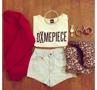 t-shirt dope spring floral 2013 shirt shorts boots sweater jewerly