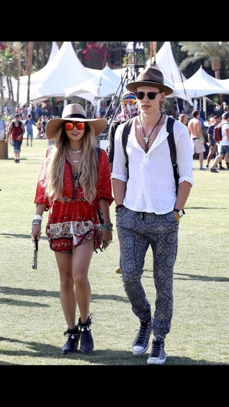 shoes vanessa hudgens hippie coachella romper