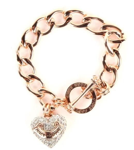 jewels bracelets chain juicy couture heart