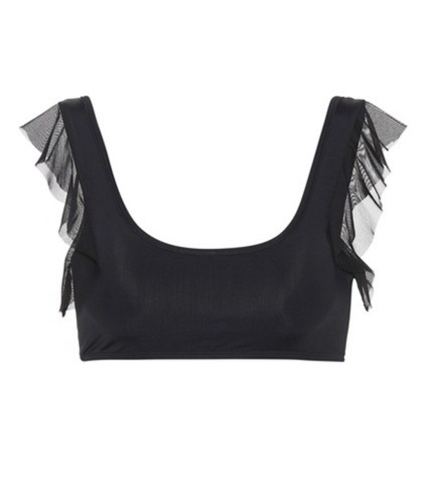 Beth Richards Flutter bikini top in black