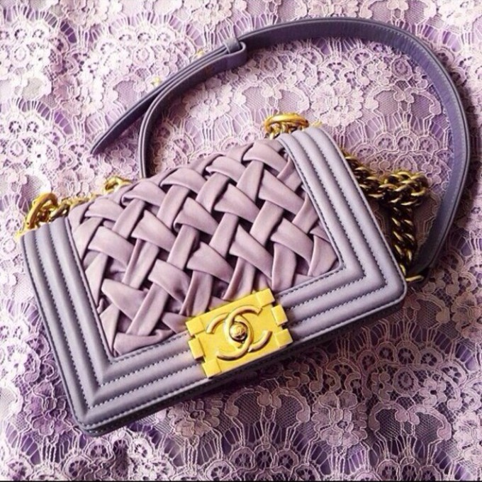 Purple Chanel Purple Bag Purse Gold Chanel