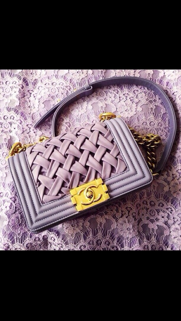 Chanel Boy Bag Purple Bag Chanel Purse Purple Gold