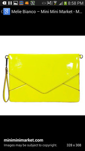 bag,neon yellow