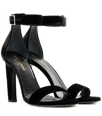 sandals velvet black shoes