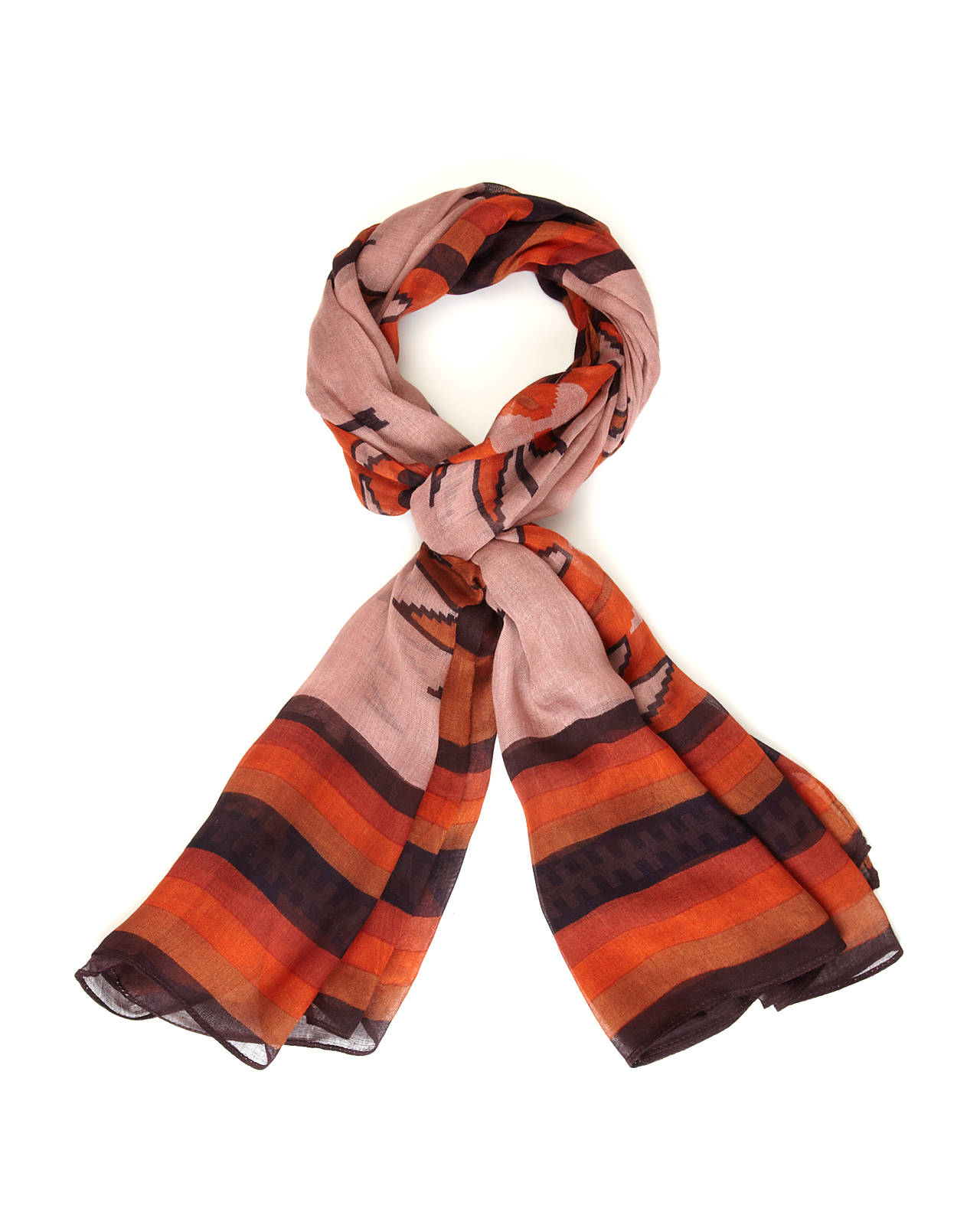 THEODORA & CALLUM Red Rock Scarf | Handbags & Accessories | Century 21 Department Store