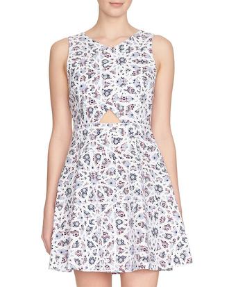 dress printed dress skater dress cut-out dress