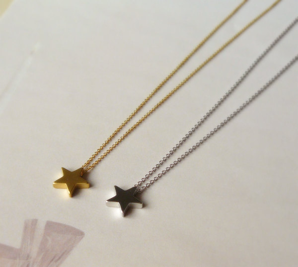 Star necklace, small star necklace, little gold star necklace, best friend gift, sister, small gift for girl