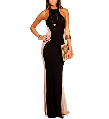 Pre-Order BlackTaupe Maxi Dress