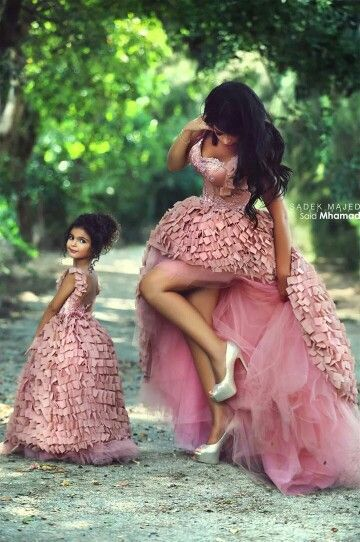 Aliexpress.com : Buy Gorgeous Asymmetrical High Low Pink Mother And Daughter Matching Prom Dresses Sweetheart Tiered Appliques For Mommy And Kids from Reliable dress shoes toddler girls suppliers on Suzhou Babyonlinedress Co.,Ltd