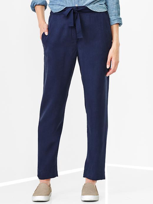 gap drapey tencel pants - military blue