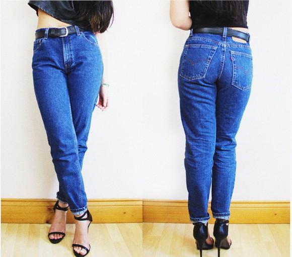 jeans denim mom jeans tapered levi's vintage