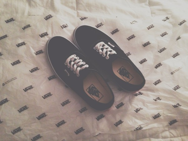 shoes vans black