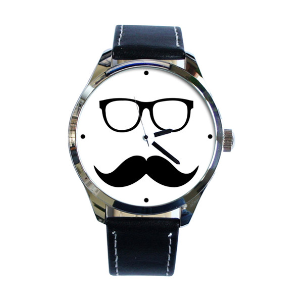jewels watch watch moustache ziz watch ziziztime moustache black n white