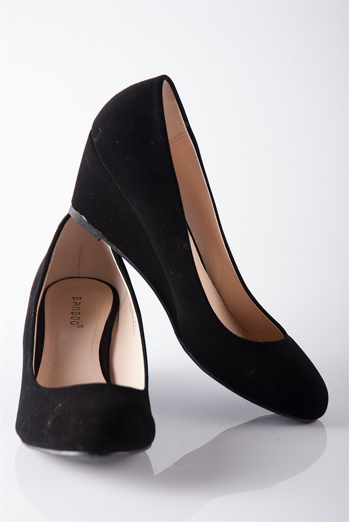 classic closed toe wedge pumps black from casual day