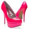 Womens shoes neon pink classic round toe high heel platform stiletto pump us 7 5 | ebay