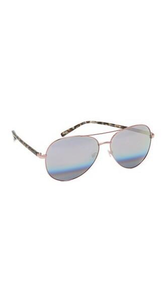 rainbow sunglasses aviator sunglasses silver peach