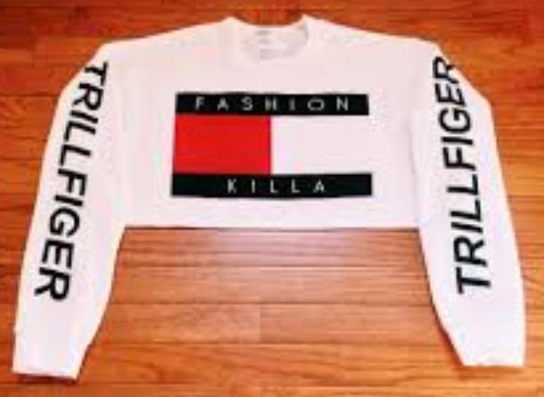 sweater t-shirt tommy hilfiger crop top