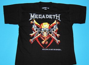 Megadeth killing is my business t shirt size xl