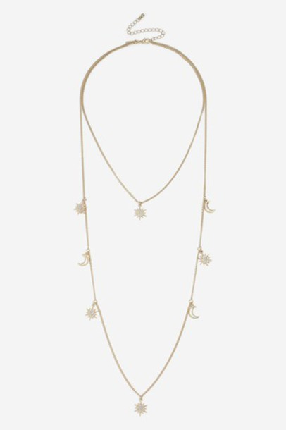 Topshop necklace gold jewels