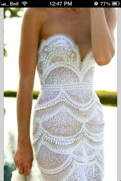 dress white wedding prom long