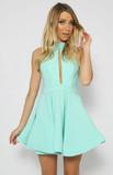 Diaz halter mini dress
