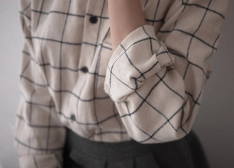 blouse checkered minimalist hipster