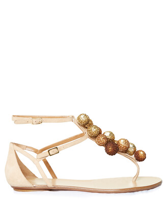 sandals flat sandals suede nude shoes