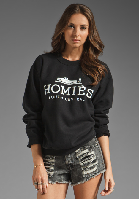 BRIAN LICHTENBERG Homies Sweatshirt in Black/White at Revolve Clothing - Free Shipping!