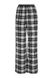 pants,plaid,silk