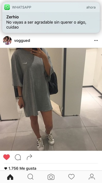 t-shirt nike grey colorful blank classic dress long boy menswear male shirt chic cool instagram instachic style fashion