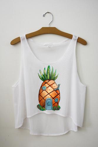 Pineapple Crop Top – Hipster Tops
