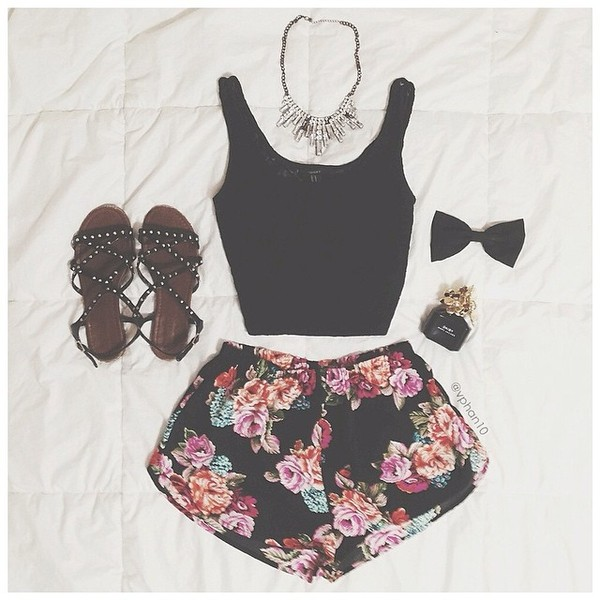 shoes sandals shorts floral