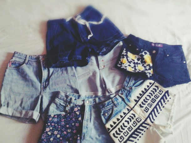 shorts High waisted shorts high waisted jeans fabric shorts disstressed jeans disstresed ethical ethnic short aztec shorts tribal shorts tribal pattern floral pattern panel shorts