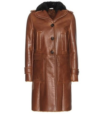 coat fur leather brown