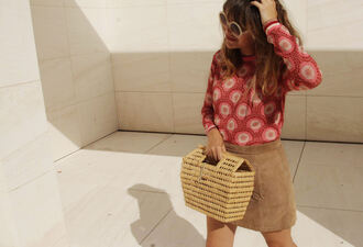 my daily style blogger skirt bag shoes basket bag summer outfits beige skirt
