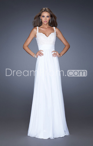 US $132.992014 Exquisite Floor-length Sweetheart Spaghetti Straps Sheath/Column Chiffon Prom Dresses