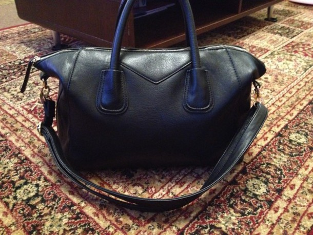 bag black leather