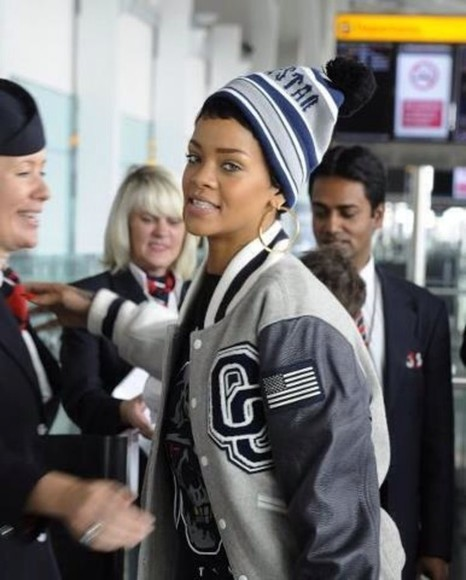 grey jacket beautiful rihanna perfection