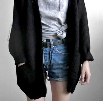 cotton lovely cardigan tumblr black hipster cool alternative soft grunge