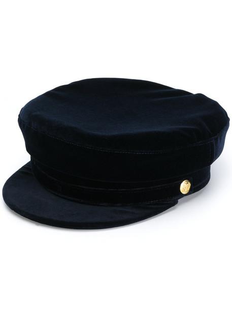 hat blue velvet