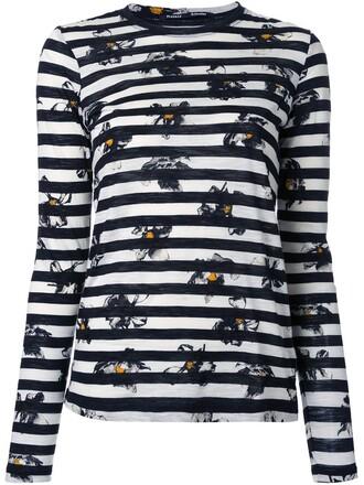 t-shirt shirt striped t-shirt print white top