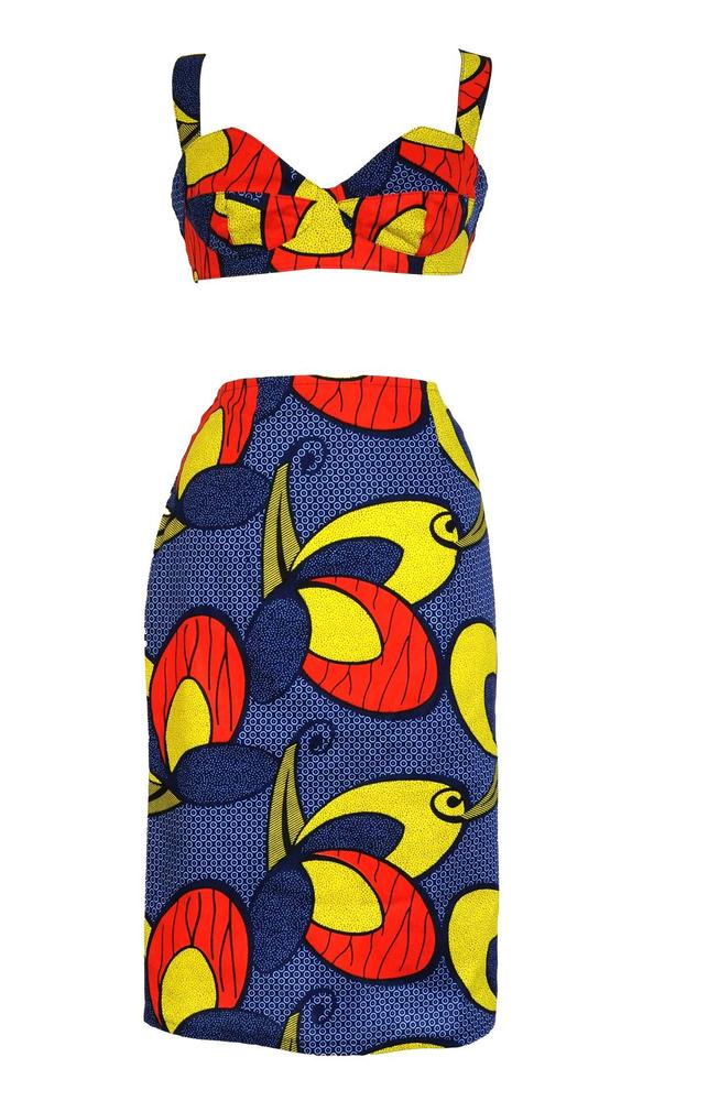Tribal Print Bralet & Pencil Skirt Set - BACK IN STOCK! LIMITED  | Style Icon`s Closet